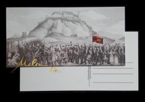 Postkarte 1817 Studentenzug zum Wartburgfest