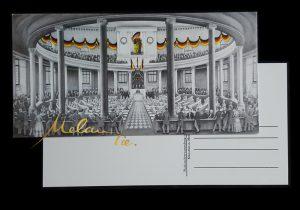 Postkarte 1848-1849 Nationalversammlung in der Paulskirche