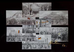 7-teiliges Set Postkarten - Deutsche Geschichte